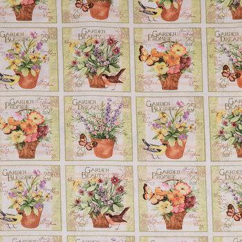 Garden Blessings Block Cotton Calico Fabric