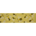 Yellow Bees Wired Edge Ribbon - 2 1/2