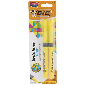 Yellow Highlighter Pens - 2 Piece Set