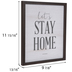 Let's Stay Home Wood Wall Decor