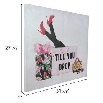 Shop Till You Drop Canvas Wall Decor