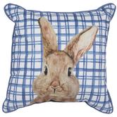 Blue Plaid Bunny Pillow