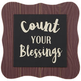 Count Your Blessings Wood Decor