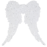 White Angel Wings Ornament