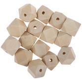 Geometric Wood Beads - 20mm