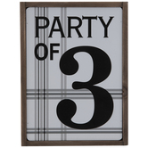 Party Of 3 Wood Decor