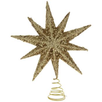 Gold Chunk Glitter Star Tree Topper