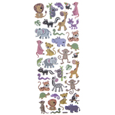 Zoo Animal Foil Stickers