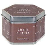 Amber Petals Candle Tin