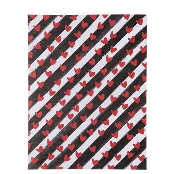 "Hearts & Stripes Paper - 8 1/2"" x 11"""
