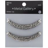 Floral Curved Tube Beads - 67mm
