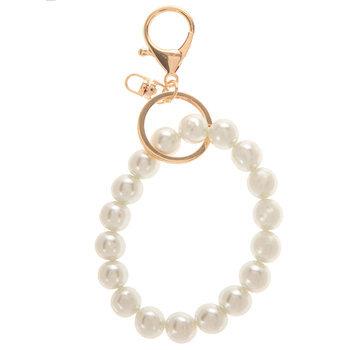Glass Pearl Bracelet Keychain