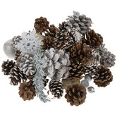 Snowflake & Frosted Pinecone Filler