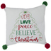 Word Tree Pillow With Pom Poms