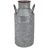 Ridged Galvanized Metal Milk Can