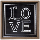 Black & White Love Tile Wood Decor