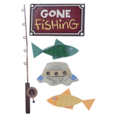 Gone Fishing 3D Stickers