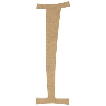 """Curly-Q Wood Letter I - 8"""""""