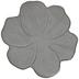 White & Brown Flower Bowl - Large