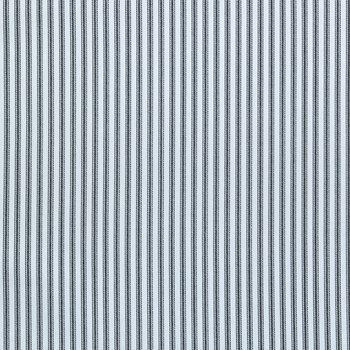 White & Black Ticking Striped Cotton Calico Fabric