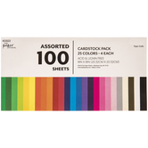 """Assorted Cardstock Paper Pack - 8"""" x 8"""""""