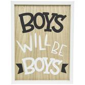 Boys Will Be Boys Wood Wall Decor