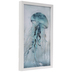 Blue Jellyfish Framed Wall Decor