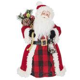 Santa With Lantern Tree Topper