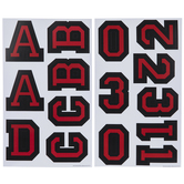 Black & Red Varsity Alphabet Stickers