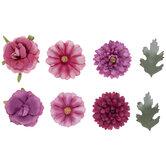 Pink & Purple Flower Embellishments