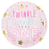 Twinkle Twinkle Little One Paper Plates - Large