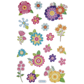 Flower Puffy Stickers