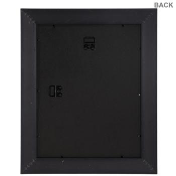 Black & Gold Flat Wall Frame
