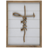 Jesus Cross Wood Wall Decor