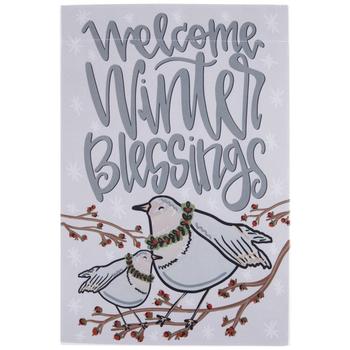 Welcome Winter Blessings Garden Flag
