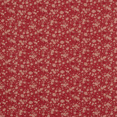 Red Prairie Cotton Calico Fabric