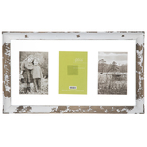 Rustic White Float Collage Wood Wall Frame
