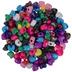 Opaque Multi Plastic Heart Pony Beads
