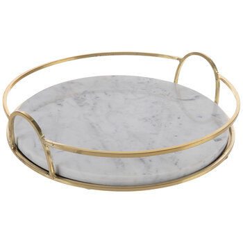 White & Gold Marble Tray