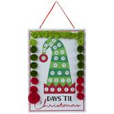Days 'Til Christmas Elf Hat Metal Countdown Calendar