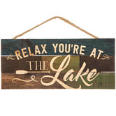 Relax You're At The Lake Wood Wall Decor