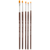 Gold Nylon Shader Paint Brushes - 5 Piece Set