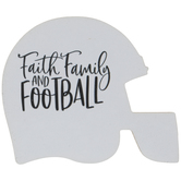 Faith Family & Football Wood Magnet