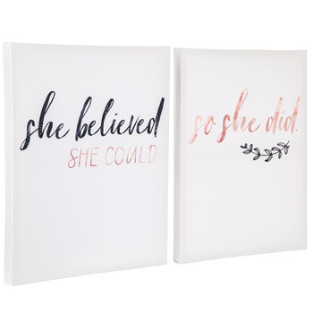 She Believed She Could Canvas Wall Decor Set
