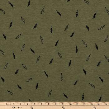 Lightning Bolts Knit Fabric