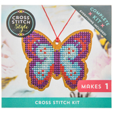 Butterfly Ornament Cross Stitch Kit