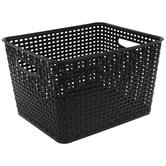 Black Rectangle Basket