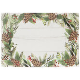 Pine, Pinecone & Shiplap Gift Tag Stickers