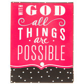 All Things Are Possible Magnetic Memo Pad