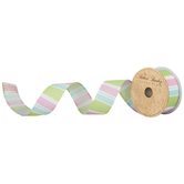 Striped Wired Edge Ribbon - 1 1/2""